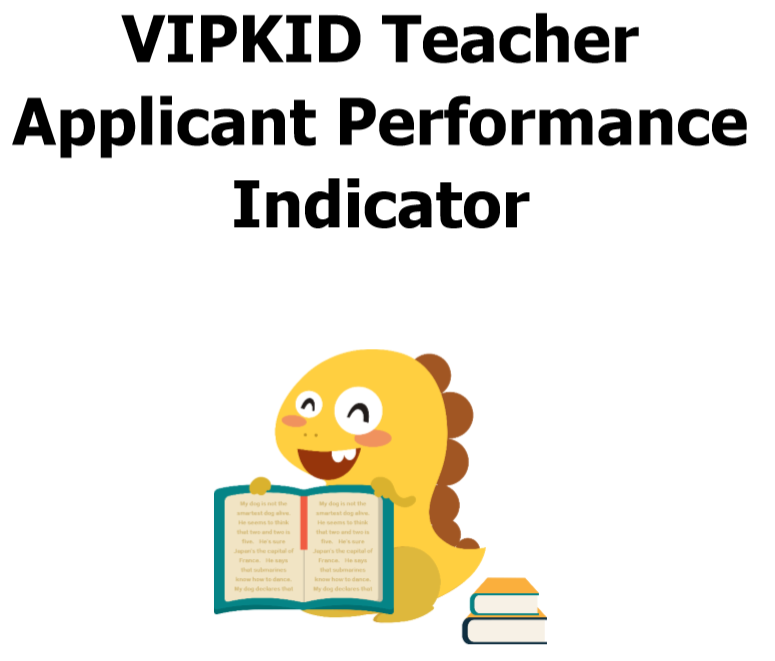 graphic about Vipkid Dino Printable known as VIPKID Mock Cl Ranking and Analysis Metrics - On-line